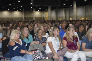 Picture of educators in Expo Center