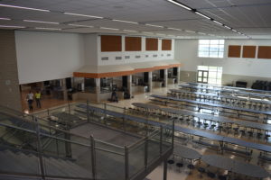 Picture of new school cafeteria