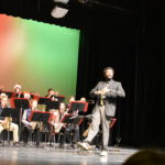 A high school band performance.