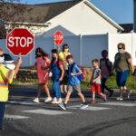 People in a crosswalk