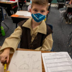 Students dressed up for halloween