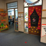 A decorated door at Silver Crest Elementary