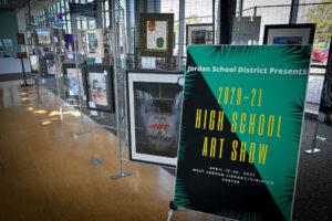 High School Art Show Display