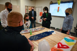 Lt. Governor Diedre Henderson meets with students