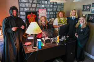 Rocky Peak Virtual Elementary staff dressed in Harry Potter themed clothing