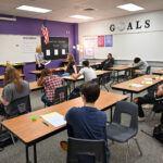 Riverton High Students in a classroom
