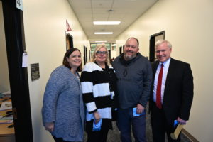 West Jordan High School Counselors pose with Superintendent Anthony Godfrey