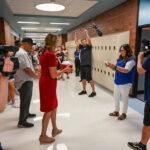 Robyn Luke Getting Surprised by Fox 13's Dream Team
