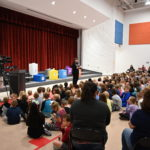 Mountain Point Elementary School principal addresses students.