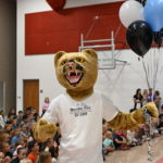 Mountain Points Elementary School shows off their new mascot the puma.