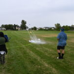 Students launch their homemade rockets