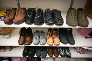 Picture of donated shoes