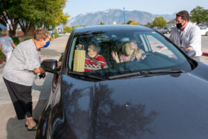 Retirees in Thier Car Talk With Board Members