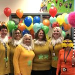 Teachers dressed up for Halloween