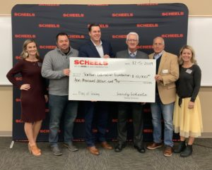 Picture of Scheels donation presentation