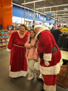 Picture of Santa and student