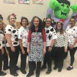 Teachers pose in costume