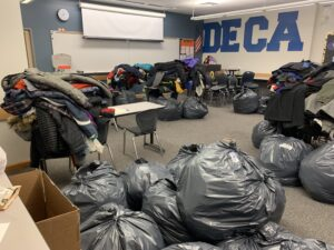 Picture of coats collected