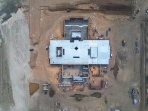 arial photo of new a Herriman Elementary School