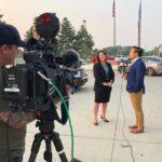 abc 4 interviewing Jordan District Staff