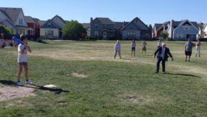 Students Playing Wiffle Ball