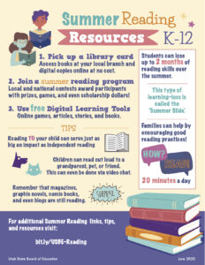Summer Reading Flyer in English