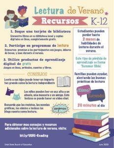 Summer Reading Flyer in Spanish