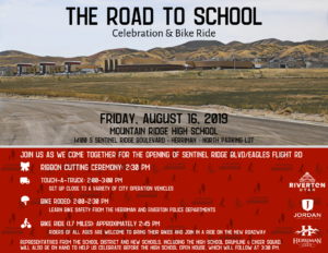 Flyer With Ribbon Cutting Information