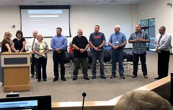 The team is recognized at Board Meeting