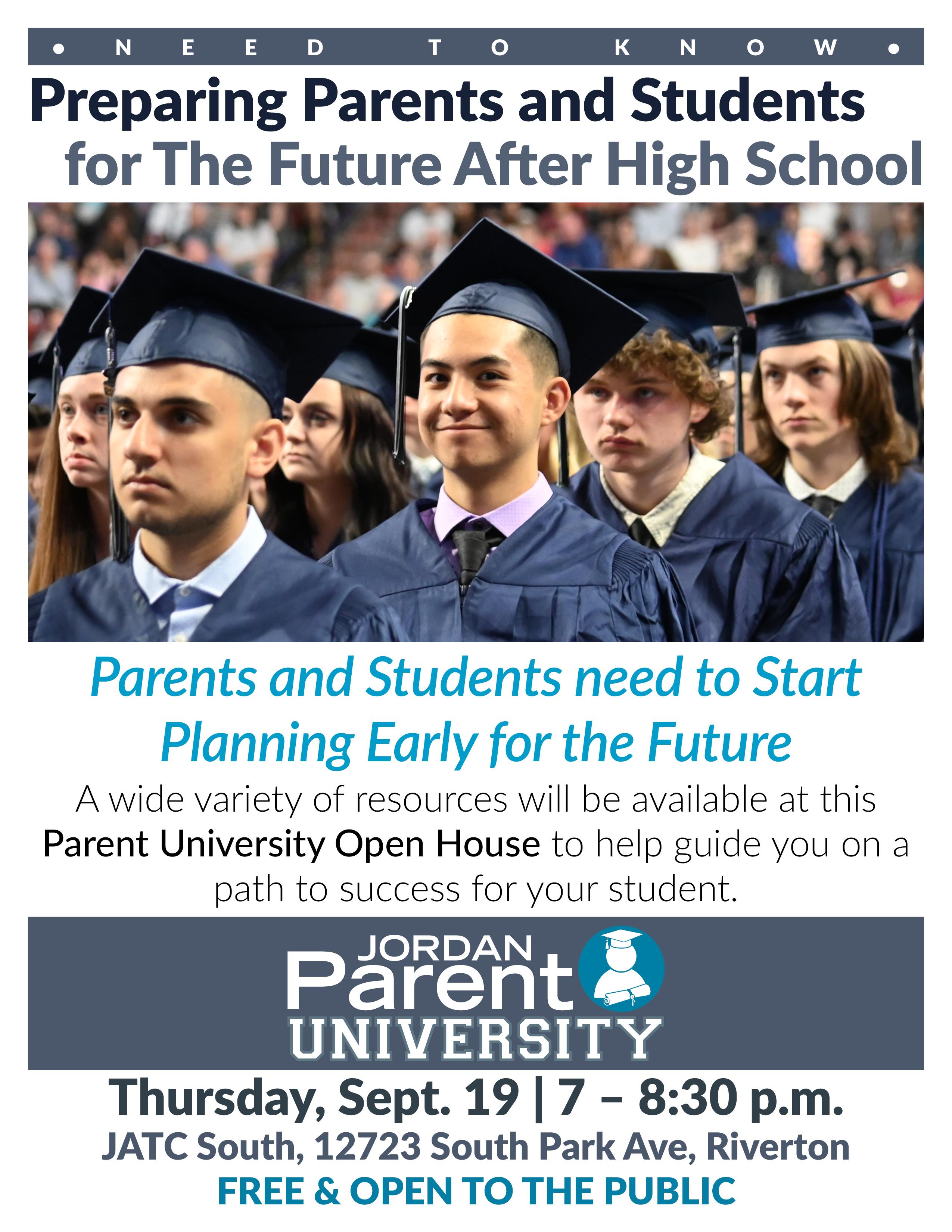 Jordan Parent University Flyer