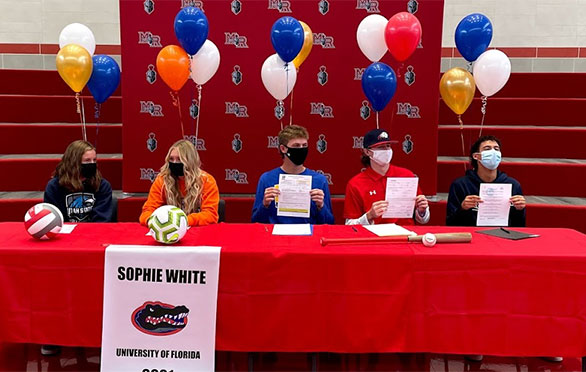 Five Mountain Ridge High students sign their letters of intent