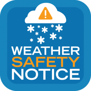 Weather Safety Notice Icon