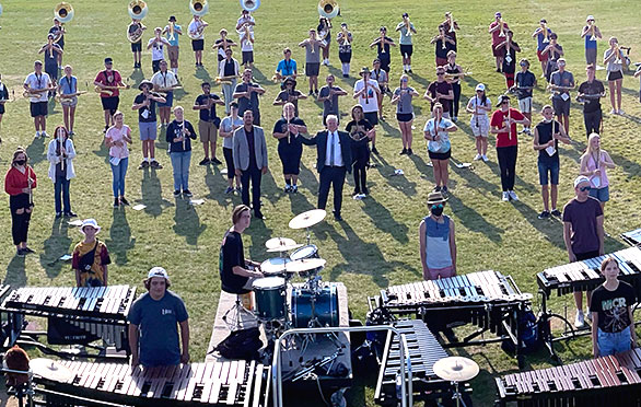 Superintendent leads the Herriman High Marching Band