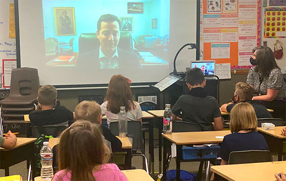 Mayor Staggs meets virtually with students