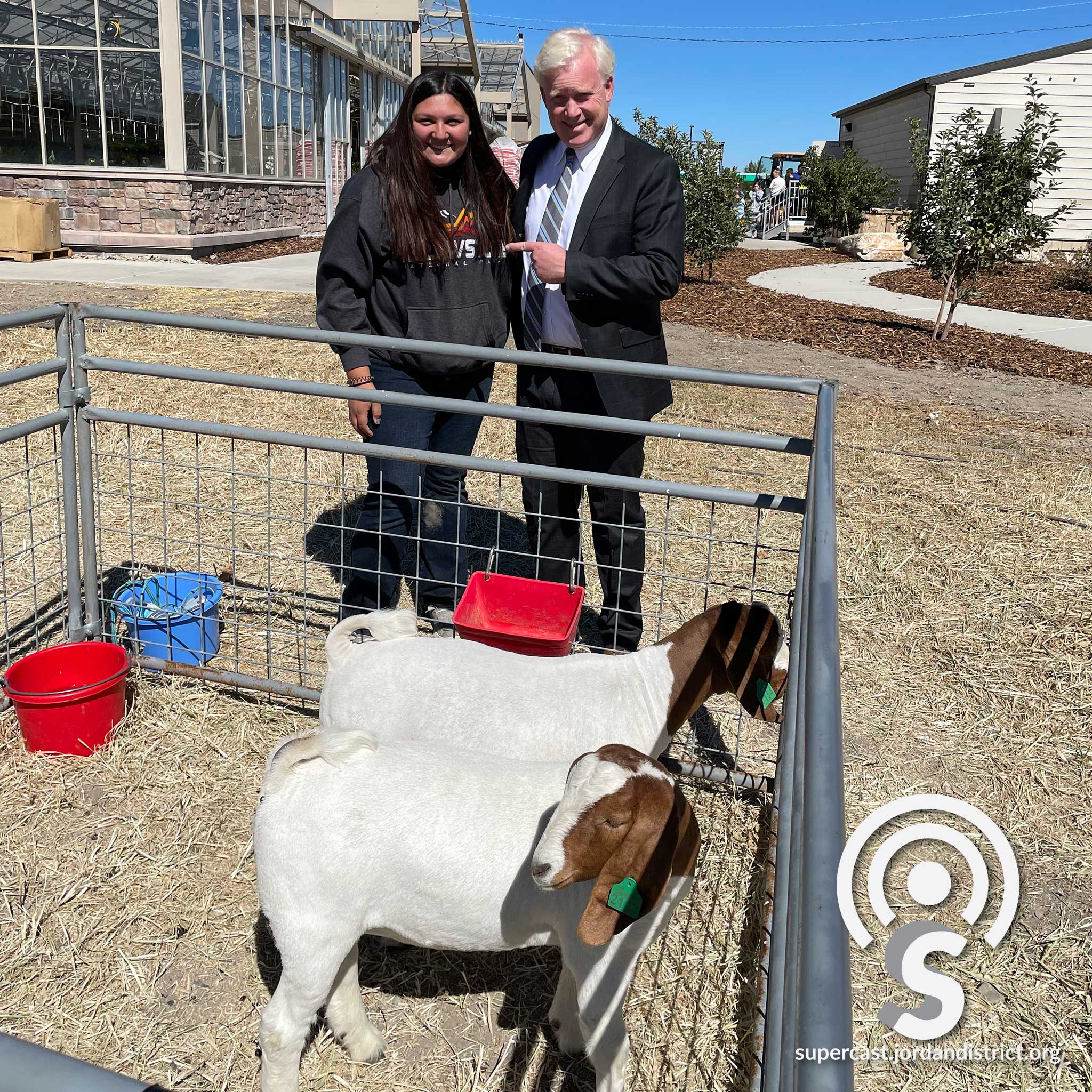 Superintendent checks out the goats