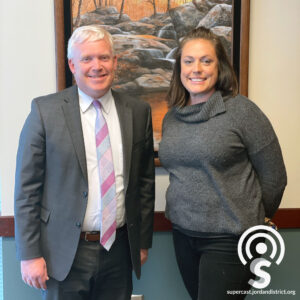 Superintendent with Angie Rasmussen
