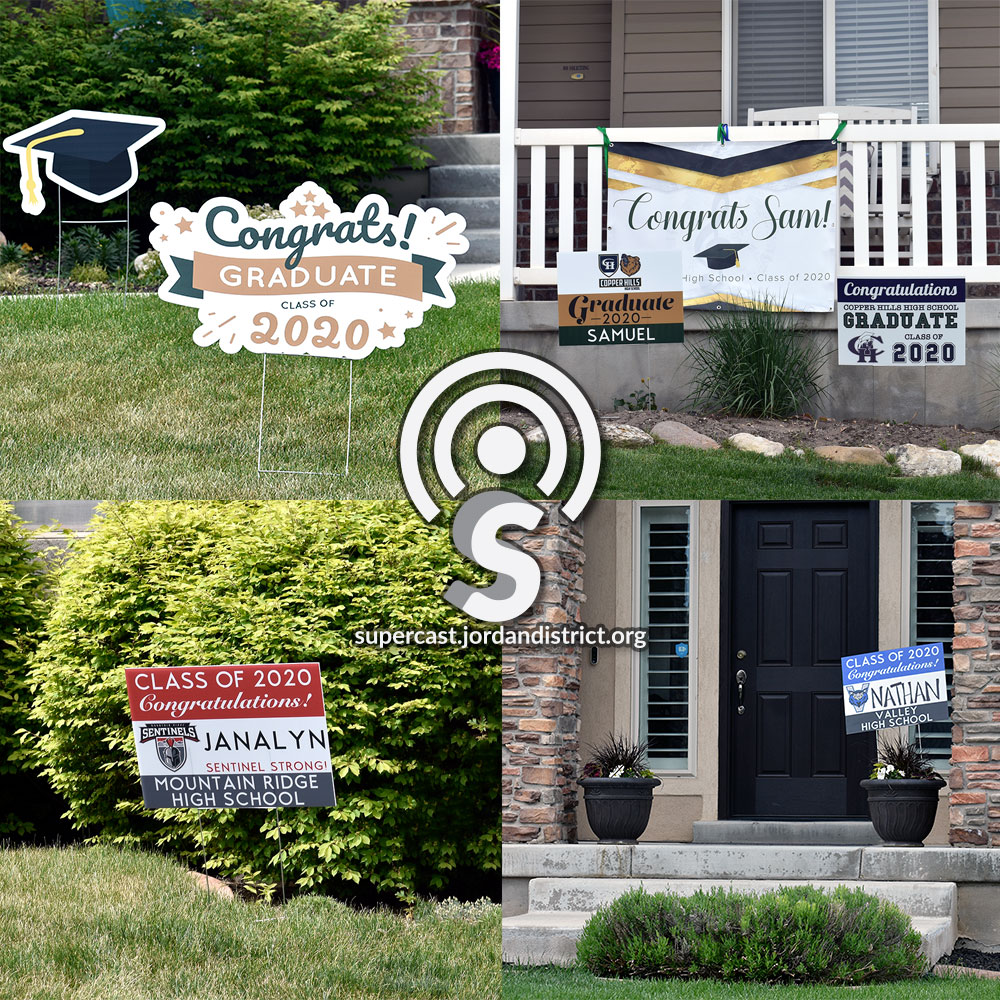 Graduate signs at local homes