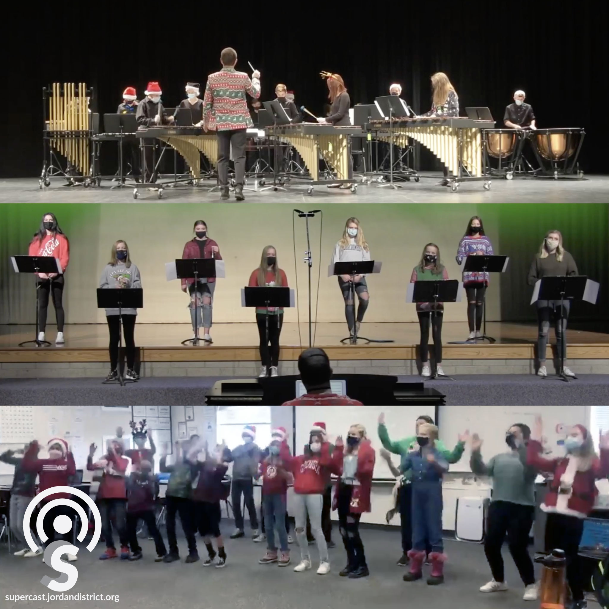 Groups performing holiday music