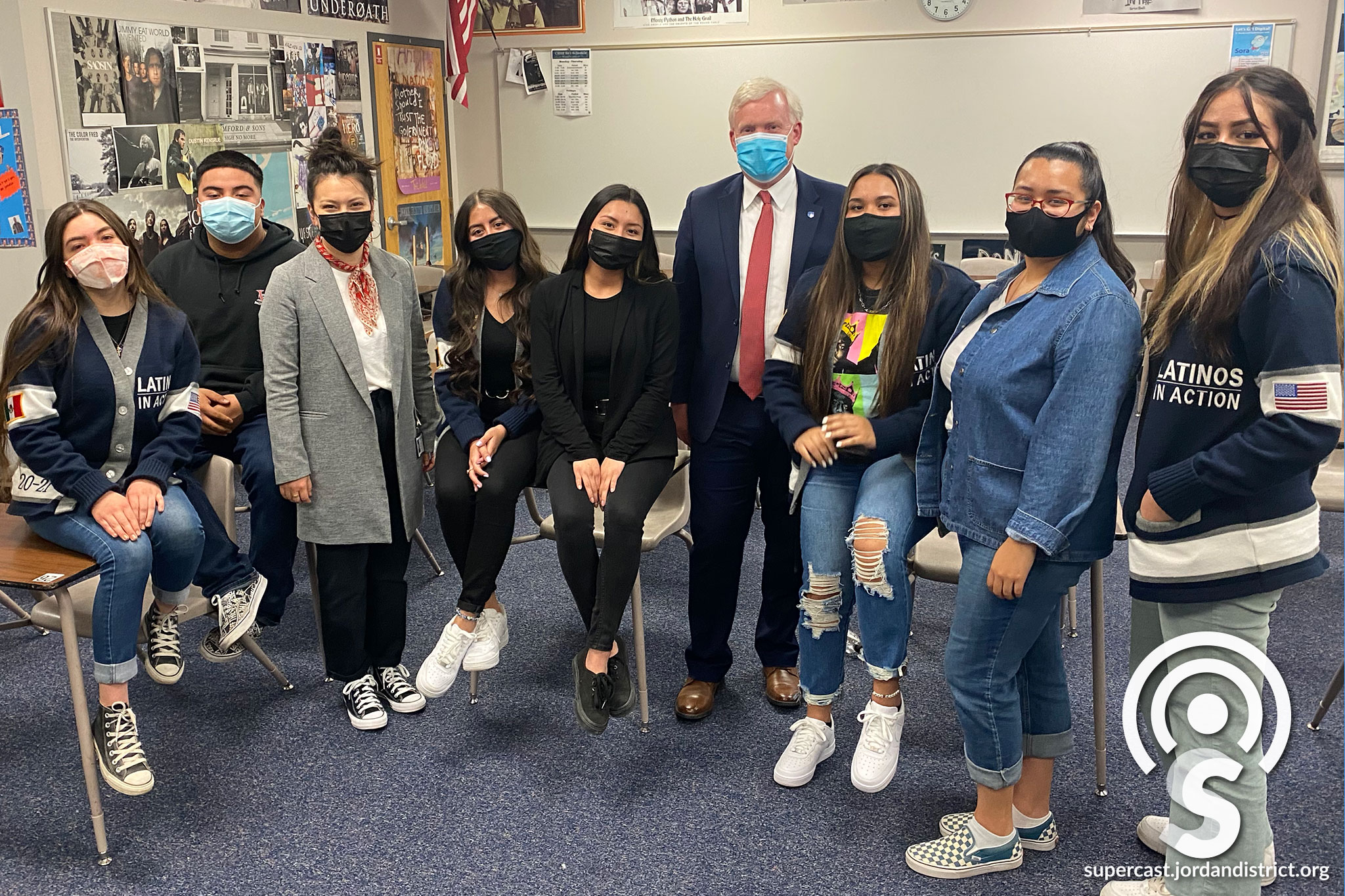 CHHS Latinos in Action with Superintendent Godfrey