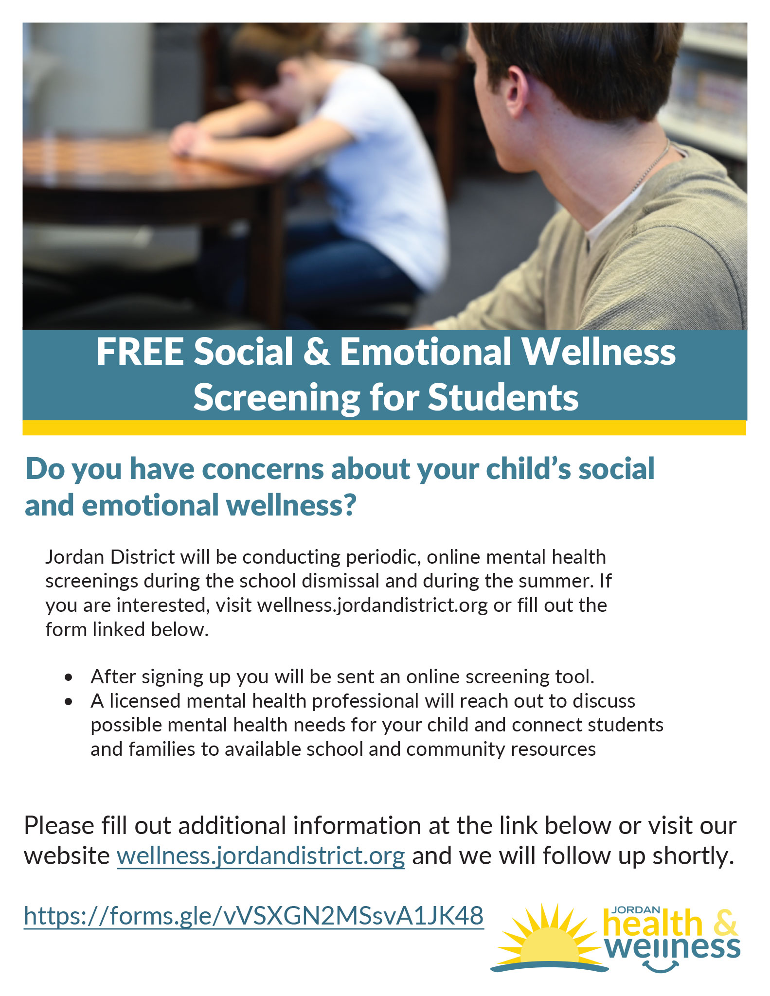 FREE Social & Emotional Screening for Students