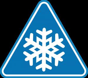 Winter Warning Sign
